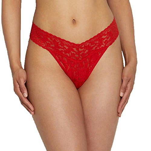 Hanky Panky One Size Signature Lace Original Rise Thong Sriracha Red