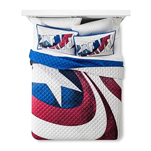 Captain America Blue Shield Quilt Twin/Twin XL (Captain America Bedding Twin compare prices)