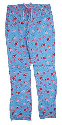 Secret Treasures Blue Paradise Cherries Woven Poplin Sleep Pants - ()