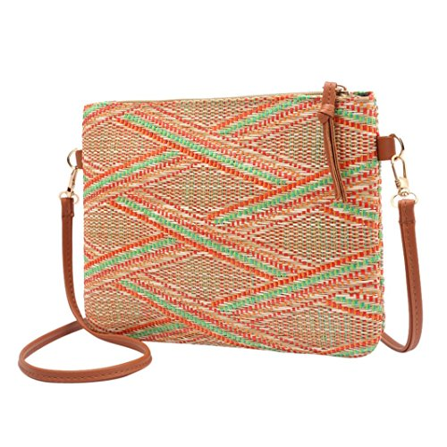 Yellow Summer Beach Mini Zipper Bag Bag Casual Vintage Bag Soft Wallet Handbag Shoulder Boho Women Ladies Cellphone Student Messenger Striped Bag Crossbody Halijack aSBqpB