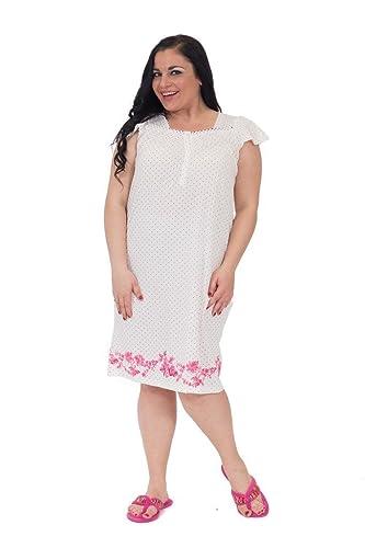 6ac30214d0 Pink Label Women s Enchanting Polka-Dot Printed Nightgown at Amazon Women s  Clothing store