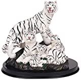 StealStreet SS-G-19696 White Tiger Collectible Wild Cat Animal Decoration Figurine Statue