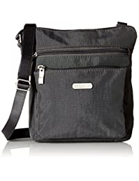 Baggallini Pocket Crossbody Travel Bag, Charcoal, One Size