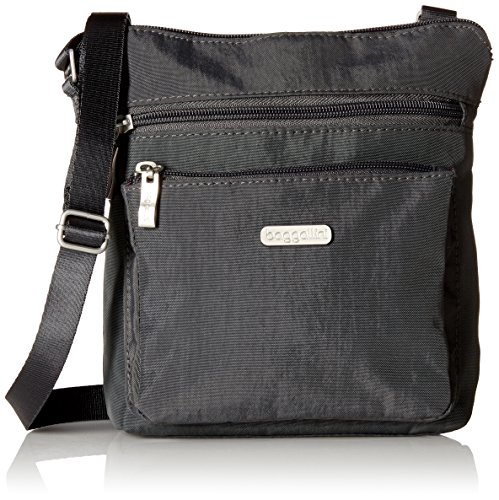Baggallini Pocket Crossbody Bag - Stylish, Lightweight, Adjustable Strap Purse With RFID-Protected Wristlet, Hands-Free Travel Bag with Interior Organizational Pockets and More Cross Body Travel Bag