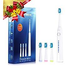 Liaboe V5731 Pack de 6 Cabezales de Recambio para Cepillo de Dientes Eléctrico, Toothbrush Heads: Amazon.es: Salud y cuidado personal