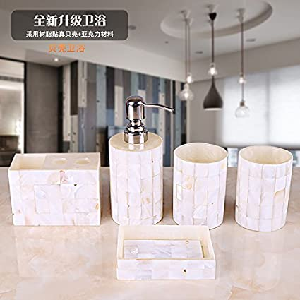 Set di accessori da bagno HJKY set bagno 5 pezzi bagno set di vanità ...