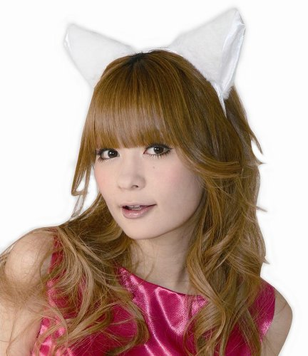 Fluffy cat ear headband ear next to white / white (japan import) by Japan