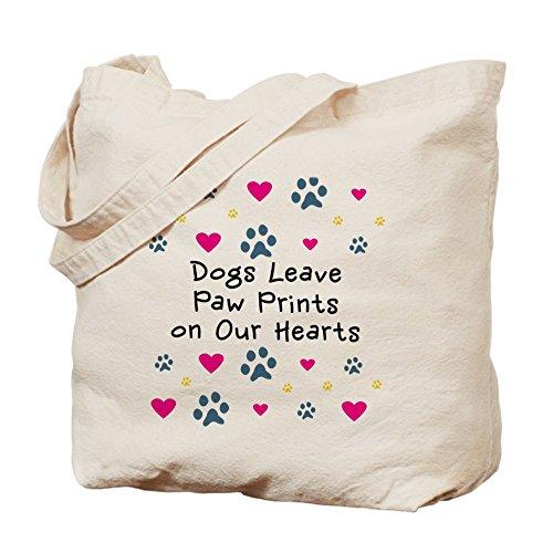 CafePress–Dogs Leave Paw Prints–Borsa di tela naturale, panno borsa per la spesa