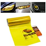 Car Light Tint Film Headlight Fog Light Taillight Yellow Tinted Vinyl Tail Back Color Sticker Self Adhesive Shiny Chameleon Accessories Parts 48''x12'' 1pc【1797】