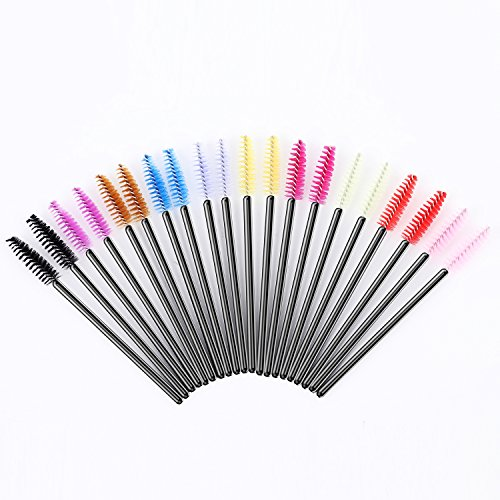 100Pcs Disposable eyelash brushes(Yellow+Black) - 5
