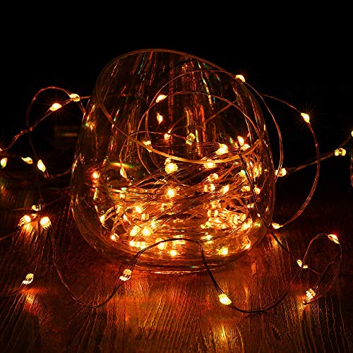 Gdealer 2 Pack Rgb Multi Color Change String Lights Fairy Lights Battery Operated Fairy String
