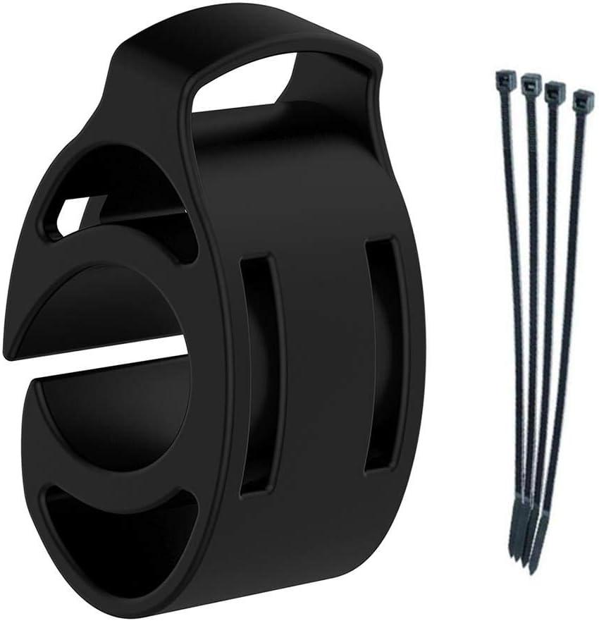 Househome - Soporte para Reloj de Bicicleta, de Silicona, para Garmin Approach S1 S3 Fenix Forerunner GPS con 4 Bridas. 5 Puntas de Bala