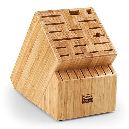 Cooks Standard 02665 Knife Storage Block, 25 slots, Bamboo