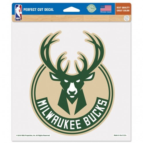 fan products of NBA Milwaukee Bucks Perfect Cut Color Decal, 8