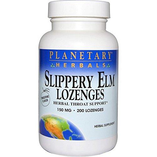 PLANETARY HERBALS Slippery Elm Lozenges, Tangerine, 200 Count