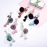 BESTOYARD Novelty Preserved Rose Keychain Handbag