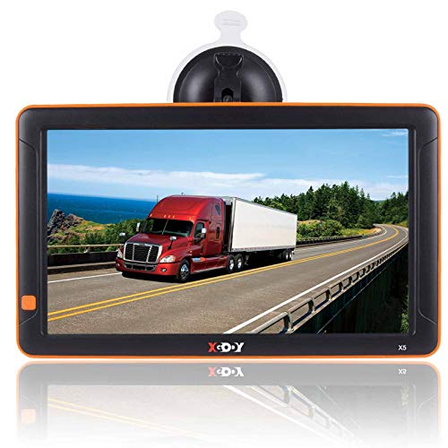 New GPS Navigation for Cars, 9-inch Big Screen Truck GPS Navigation System for Trucks Portable Car G...