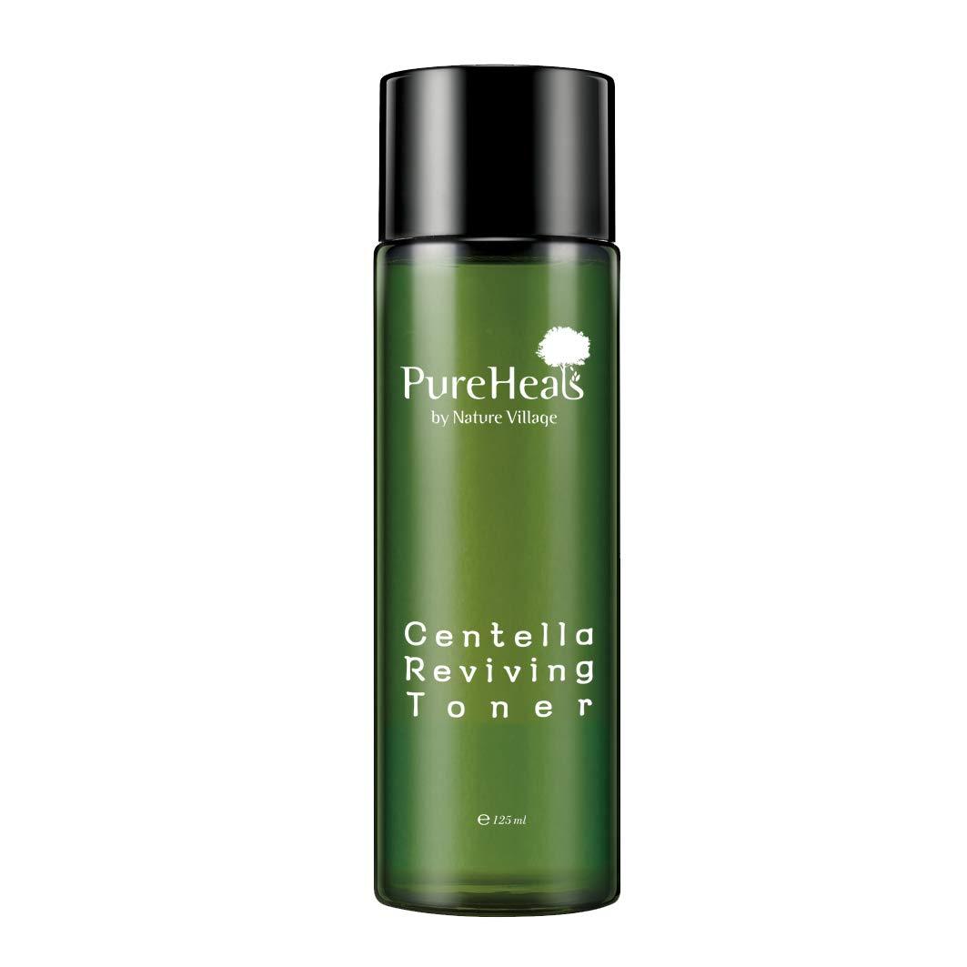Pureheal's Centella Reviving Toner 4.23 fl. oz. (125ml), Centella Asiatica Extract, Damaged Skin Care, by Nature Village