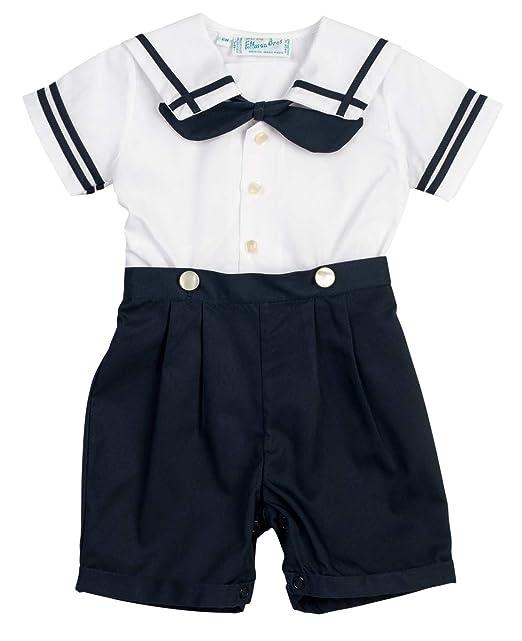 Amazon.com: Azul marino y blanco niños Sailor traje infantil ...