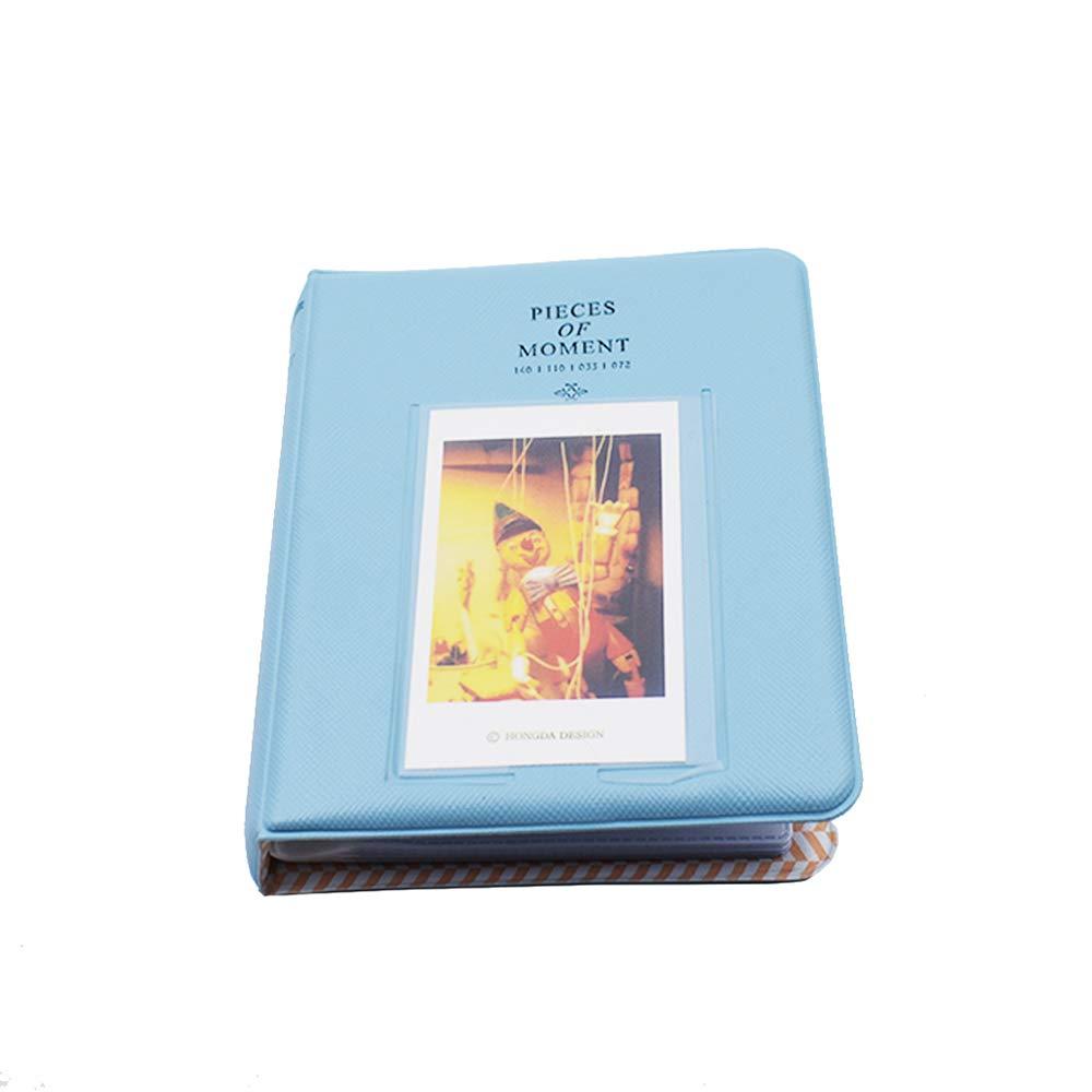 Xeminor Mini Photo Album with 64 Pockets Exquisite Polaroid Album Lovely Photo Storage Case for Fijifilm Instax Mini 8 7s 25 50s 90 Blue 1PCS