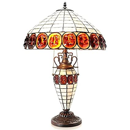 Warehouse Of Tiffany Naciona 24-inch Double-lit Stained Glass