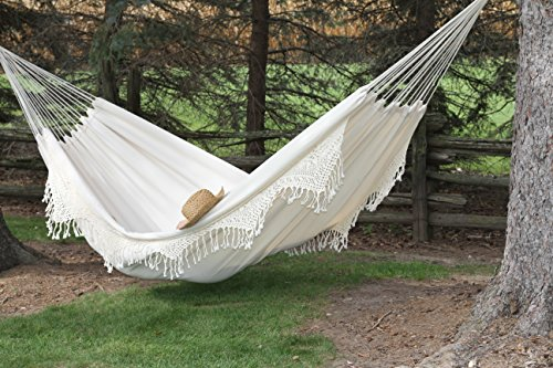 Medium image of amazon     vivere braz400 brazilian style double deluxe hammock   garden  u0026 outdoor