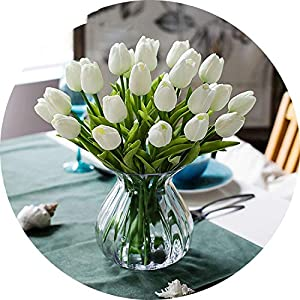 vibe-pleasure 31PCS/LOT Mini Tulip Flower Real Touch Wedding Flower Bouquet Artificial Silk Flowers for Home Party Decoration 87