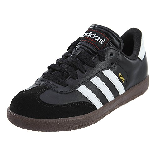- adidas Samba Classic Soccer Shoe, Black/White, 1 M US Little Kid