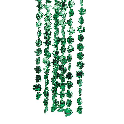 Beaded Shamrock Necklaces ()