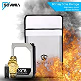 Fireproof Safe Bag Newest Upgrade, Cinsey Fire Resistant/Water Proof/Non-Itchy Silicone Coated Safety Document Storage for Home, Money, Cash, Birth Certificate, Passport, LIPO Batt