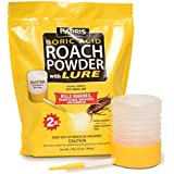 HARRIS FAMOUS ROACH TABLETS Harris Boric Acid Roach and Silverfish Killer Powder w/Lure, Powder Duster Included (32oz)