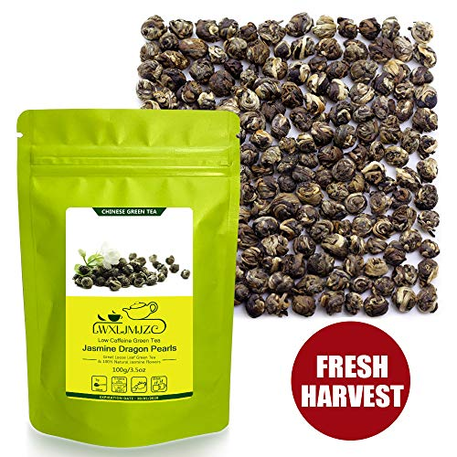 - Jasmine Tea-50 Servings Pure Jasmine Dragon Pearls Tea-Jasmine Tea Pearls-Jasmine Flowers Tea-Jasmine Green Tea 100g/3.53oz