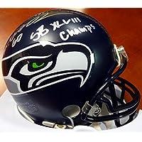 "Max Unger Autographed Seattle Seahawks Mini Helmet""SB XLVIII Champs"" MCS Holo Stock #76890 - Autographed NFL Mini Helmets photo"