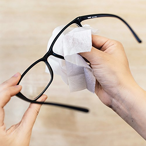 Pre-moistened Lens and Glass Cleaning Wipes: for Glasses, Camera, Cell Phone, Smartphone, and Tablet – Safe for AR lenses, Quick Drying, Streak Free, Disposable - Individually Wrapped - 200 Pack by Diamond Wipes (Image #7)
