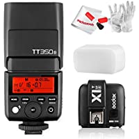 Godox TT350S 2.4G TTL Speedlite Flash with X1T-S Wireless Trigger for Sony Mirrorless Cameras - GN36 HSS 1/8000s 0.1-2.2s Recycle Time 210 Full Power Flashes 22 Step Power Output 24-105mm Zooming