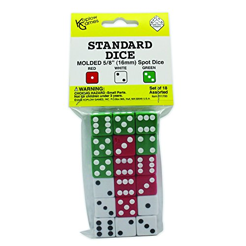 Playing Dice - Koplow Games Dot Dice Set Classroom Accessories