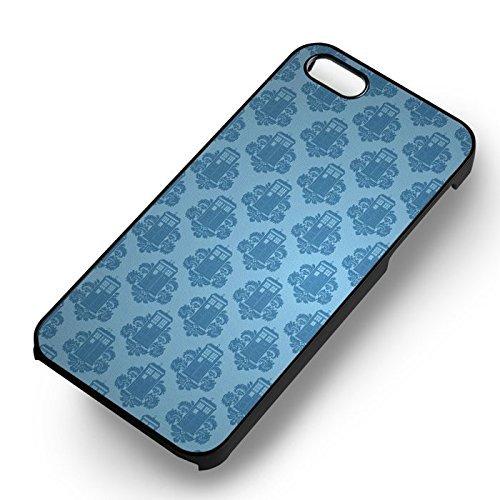 Blue Wallpaper Tardis 221b pour Coque Iphone 6 et Coque Iphone 6s Case (Noir Boîtier en plastique dur) F2L4KE