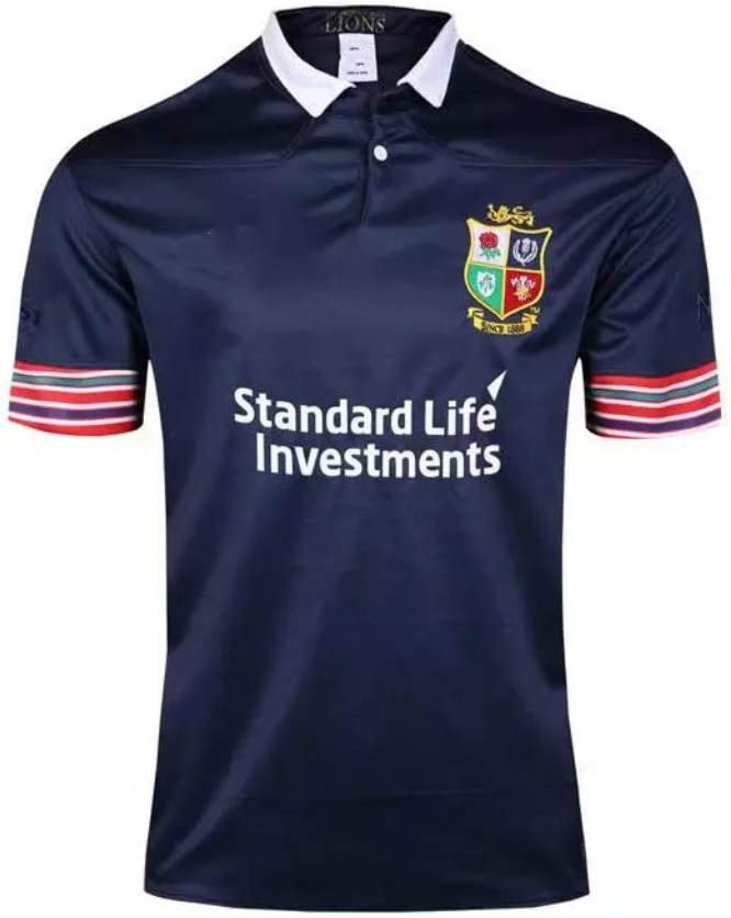 CRBsports /Équipe The British and Irish Lions Swag Sportswear Nouveau Tissu Brod/é Home Edition Maillot De Rugby