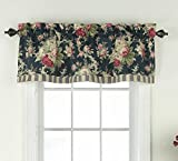 Waverly 14928052016HTB Sanctuary Rose 60-Inch by 18-Inch Window Valance, Heritage Blue For Sale