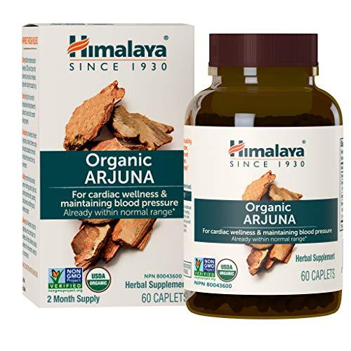 Himalaya Organic Arjuna, Blood Pressure Supplement for Cardiovascular Wellness and Heart Health, 700mg, 60 Caplets, 2…