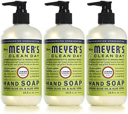 Mrs Meyers Hand Soap, Lemon Verbena, 12.5 Fluid Ounce (Pack of 3)
