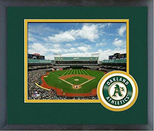 Framed Coliseum (O.co Coliseum Oakland A's MLB Stadium Photo (Size: 13