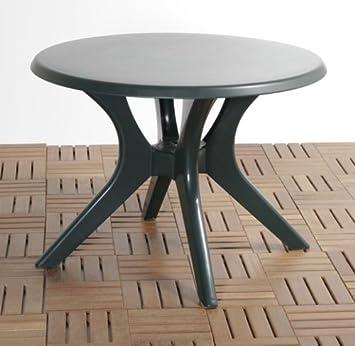 Amazon De Kettler Tisch 115cm Rund Grun Kunststoff