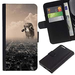 Protector de cuero de la PU de la cubierta del estilo de la carpeta del tirón BY RAYDREAMMM - Apple Iphone 6 PLUS 5.5 - Divertido Domoku gigante