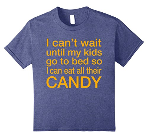 Kids Funny Halloween Costume Shirt for Moms - Eat My Kids Candy 10 Heather (Mom Eats All Halloween Candy)