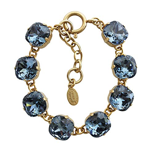 ae1881a36 Catherine Popesco Goldtone Crystal Round Bracelet, Midnight Blue 1696G