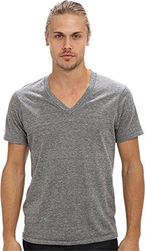 2010 Organic Mens T-shirt - Alternative Men's Boss V-Neck Tee Eco Grey X-Small