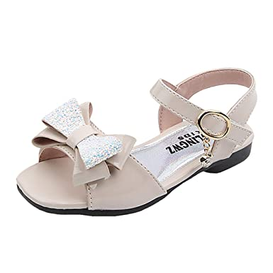 Buoyee Baby Girls Bow Sandals Sneaker Toddler Children Pricness Casual Single Shoes