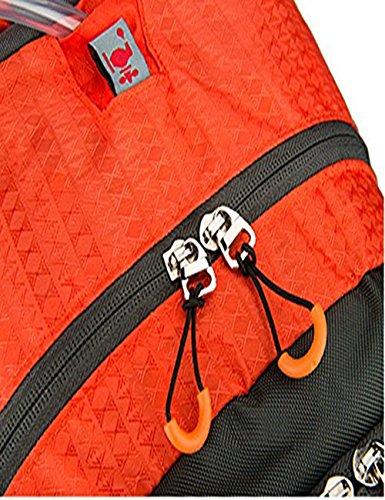 Rucksack mit Solar Handy Ladegerät, 10000mAh Akku Pack für Mobiltelefone, Digitalkameras, MP3, MP4, iPad und Mobile Power, schließen 2L Wasser Tasche, Regenschutz für Camping Bergsteigen Klettern Rei
