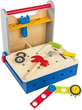 WOOMAX - Caja herramientas de madera plegable (ColorBaby 46216): Amazon.es: Juguetes y juegos